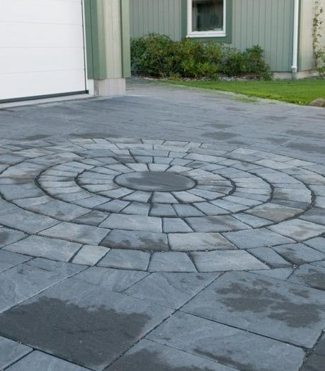 Plateau cirkel i gråmix