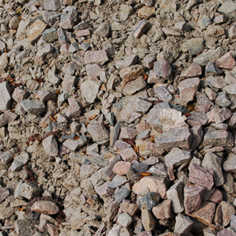 Bärlager och stenmjöl